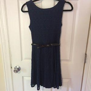 B. Smart lace dress with belt - Size 6